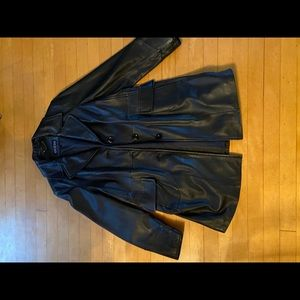 Guess women's leather jacket in black